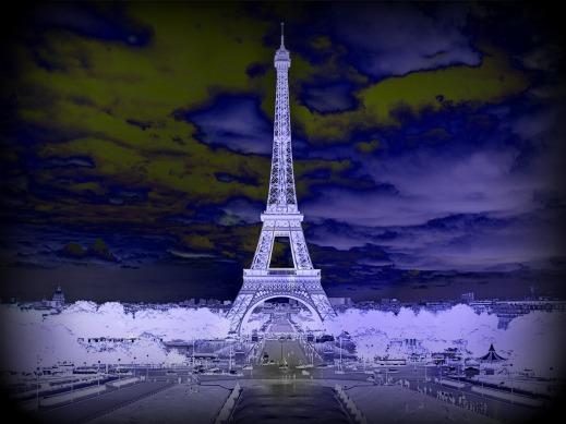 Eiffel Tower in Storm