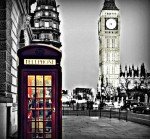 London Phone Booth by Missi Lynn Boness