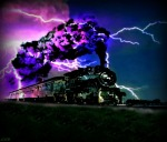 Steam Train in Purple Storm