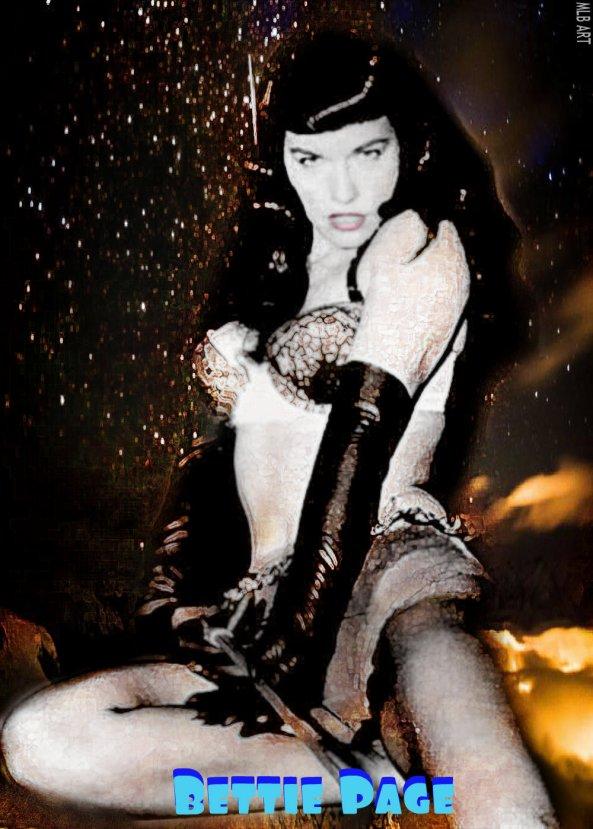 My Bettie Page Tribute by Missi Lynn Boness Artist